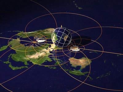 Image du film Dimensions n°1 - une projection stéréographique de la Terre