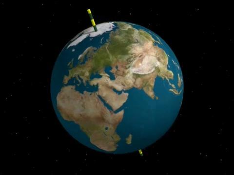 軸を持つ地球